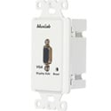 MuxLab 500041-WP-US VGA Wall Plate Balun II DB15F Over Cat5 Monitor-Side