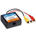 Muxlab 500048 Stereo AV/IR Pass-Thru Balun (Male RCA)