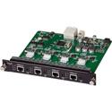 Muxlab 500482-O 4 Channel HDBT/LAN Output Card / PoE / UHD-4K