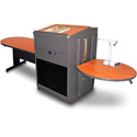 Marvel MVLTPA4830CHDT Peninsula Table/Lectern - Acrylic Door - Cherry