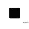 Mystery FP-2G-0-B 2-Gang Black Wall Panel Blank