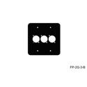 Mystery FP-2G-3-B 2-Gang Black Wall Panel 3 Each Neutrik D