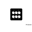 Mystery FP-2G-6-B 2-Gang Black Wall Panel 6 Each Neutrik D
