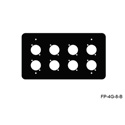 Mystery Electronics FP-4G-8-B 4-Gang Black Wall Panel 8 Each Neutrik D