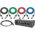 NA2-IODLINE-PLUS Neutrik NA2-IO-DLINE DANTE Audio Interface with Pro Cable Pack