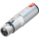 Neutrik NA3FJ 3 Pole XLR-F to Stereo 1/4 Inch Female TRS Locking Jack