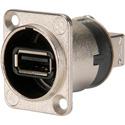 Neutrik NAUSB-W Reversible USB Genderchanger (Type A and B) - Nickel D-Housing