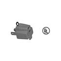 3-Prong AC Grounding Adapter - 3 Prong Female Edison to 2 Prong Male Edison