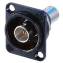 Neutrik NBB75DFIB D-Mount BNC to BNC Isolated Barrel (Black)