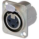 Neutrik NC3FD-LX Female 3 Pole XLR Solder Cups Nickel/Silver