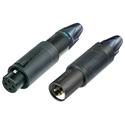 Neutrik NC3FM-C-B convertCon 3 Pole Unisex XLR Cable Connector - Black
