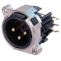 Neutric NC3MBHR 3 pole Male XLR Receptacle - Lateral Right PCB Mount