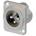 Neutrik NC3MD-LX 3 Pole Male XLR Solder Cups Nickel/Silver