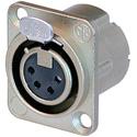 Neutrik NC4FD-LX 4 Pole Female XLR - Nickel/Silver