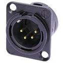 Neutrik NC4MD-L-BAG-1 4 Pole Male Receptacle Solder CupsÿBlack Metal HousingÿSilver Contacts