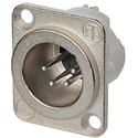 Neutrik NC4MD-LX 4-Pin XLR Male Panel/Chassis Mount Connector - Duplex Ground - Nickel/Silver