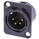 Neutrik NC4MD-L-B-1 D-Series 4-Pin XLR Male Black/Gold