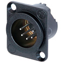 Neutrik NC5MD-LX-BAG Receptacle DLX Series 5 Pin Male - Solder - Black/Silver