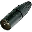 Neutrik NC5MX-BAG - 5 Pole Male Cable Conn - Black Metal Housing-Silver Contacts