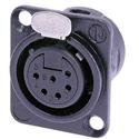 Neutrik NC6FD-L-BAG-1 6 Pin Female w/ Solder Cups - Black/Silver