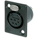 Neutrik Receptacle 6-Pin XLR Female Panel Mount Connector - Black/Silver