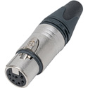Neutrik NC6FXX 6 Pole Female XLR Cable Connector with Nickel Housing and Silver Contacts