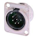 Neutrik NC6MSD-L-1 DL1-Series 6S Pin XLR-M Solder Cups- Nickel/Silver