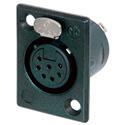 Neutrik NC7FP-B-1 7 Pin Female XLR Panel Receptacle - Black/Gold