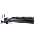 Nady 2W-1KU HT 1000-Channel Select UHF Dual Receiver Wireless System With 2 HH Tx