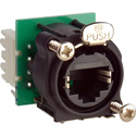 Neutrik NE8FAV-Y110 EtherCon Vert PCB Pan Mt w/IDC 110 Punch Terminals