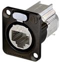 Neutrik NE8FDX-Y6-B D-shape CAT6A Panel Connector - Shielded/ IDC Termination/ Black Housing