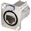 Neutrik NE8FDX-Y6 D-shape CAT6A Panel Connector - Shielded/ IDC termination/ Nickel Housing