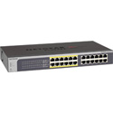 NetGear JGS524PE-100NAS ProSAFE Plus Rackmount 24-Port Gigabit PoE Web Managed Switch with 12 PoE Ports