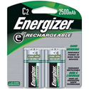 Energizer NH35BP-2 C Size Nickel Metal Hydride Rechargeable Battery -2 Pack