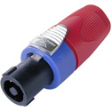 Neutrik NL4FX-2 Speakon Lockable 4 Pole Cable Connector w/Red Bushing