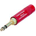Neutrik NP3CM-R TRS .206 Inch MIL/B-Gauge Phone Plug (Red/Brass)