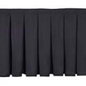 Box-Pleat Skirting for 8 inch H Stage- Per Foot- Black