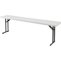 BT-1896 Plastic Blow Molded Grey Rectangle Folding Table 18inx96in