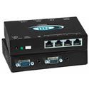 NTI VOPEX-C5VA-4C1000 VGA Splitter/Sender Unit with Audio via CAT5 to 1000 Feet -  4-Port