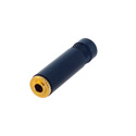 Rean NYS240BG 3.5mm Cable Jack Black Metal Handle and Gold Contacts