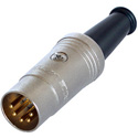 Rean NYS322G Plug - DIN 5 pin male - 180 nickel/gold