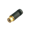 Rean NYS372P-BG Phono Jack w/Gold Plated Contacts & Black Plated Shell