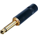 Rean NYS224BG 1/4 Inch 2-Pole Black and Gold Connector