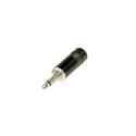 Rean NYS226B 3.5mm 2-Pole Black Metal Handle w-Crimp Strain Relief