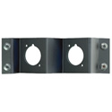 Neutrik NZPFD-2 Z-Panel Frame Plate 2 D-Size Knockouts - No Connectors