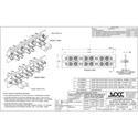 OCC 6112DST ST Adapter Plates - MultiMode/SingleMode