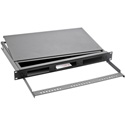 OCC RTC1UBH Rackmount Fiber Cabinet 1 RU 4 Inch Deep with Front Cable Manager and Fiber Hoops