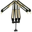 O.C. White 51900-3BG Triple Mic Arm - Black & Gold