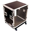 Odyssey FZAR12W 12 Space Amp Rack Case with Polished Wheels/Hardware