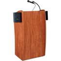 Oklahoma Sound 611-S Vision Floor Lectern with Sound - Cherry